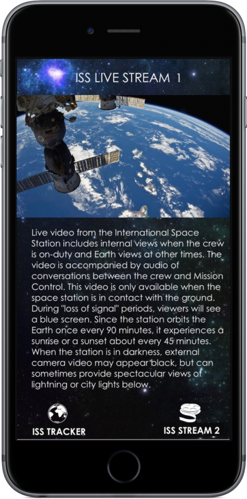 You can check on the position of the ISS inside of the app, too.