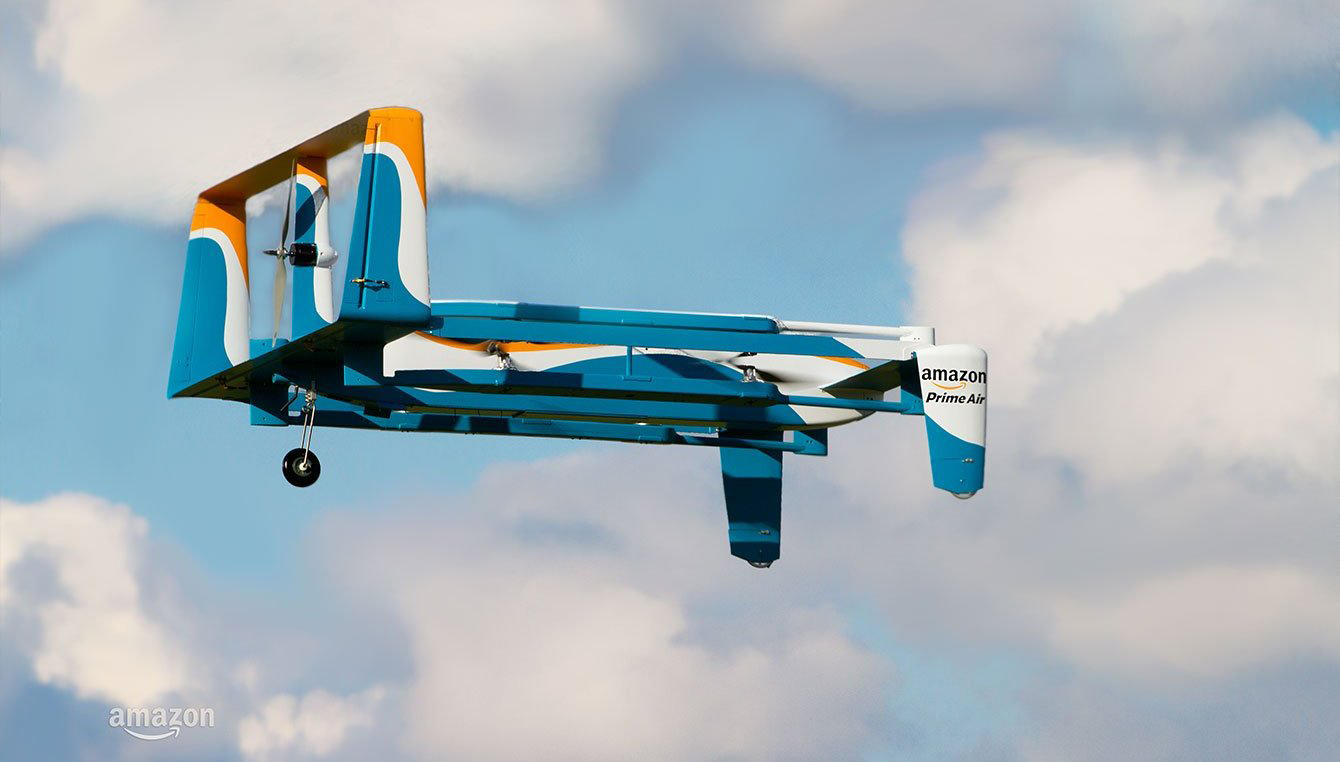 Amazon continues to plow ahead with its Prime Air drone delivery system