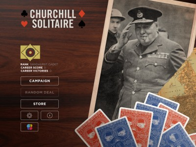 Donald Rumsfeld helps launch a fun app featuring solitaire played by Winston Churchill