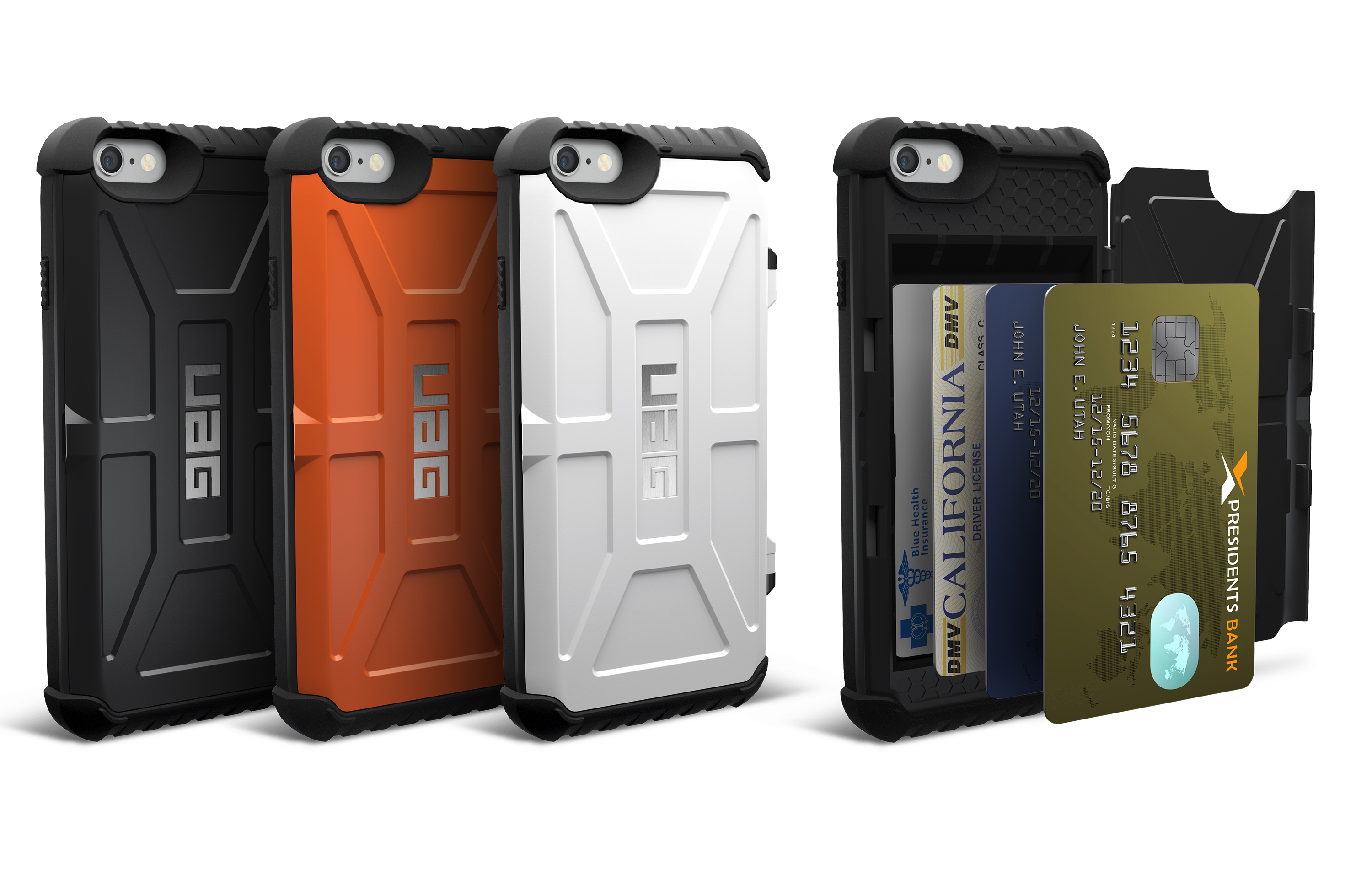 UAG's rugged Trooper Series iPhone case can also hold four credit cards