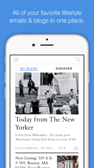 The app's typography is great, and it offers a clean, minimalistic user interface.