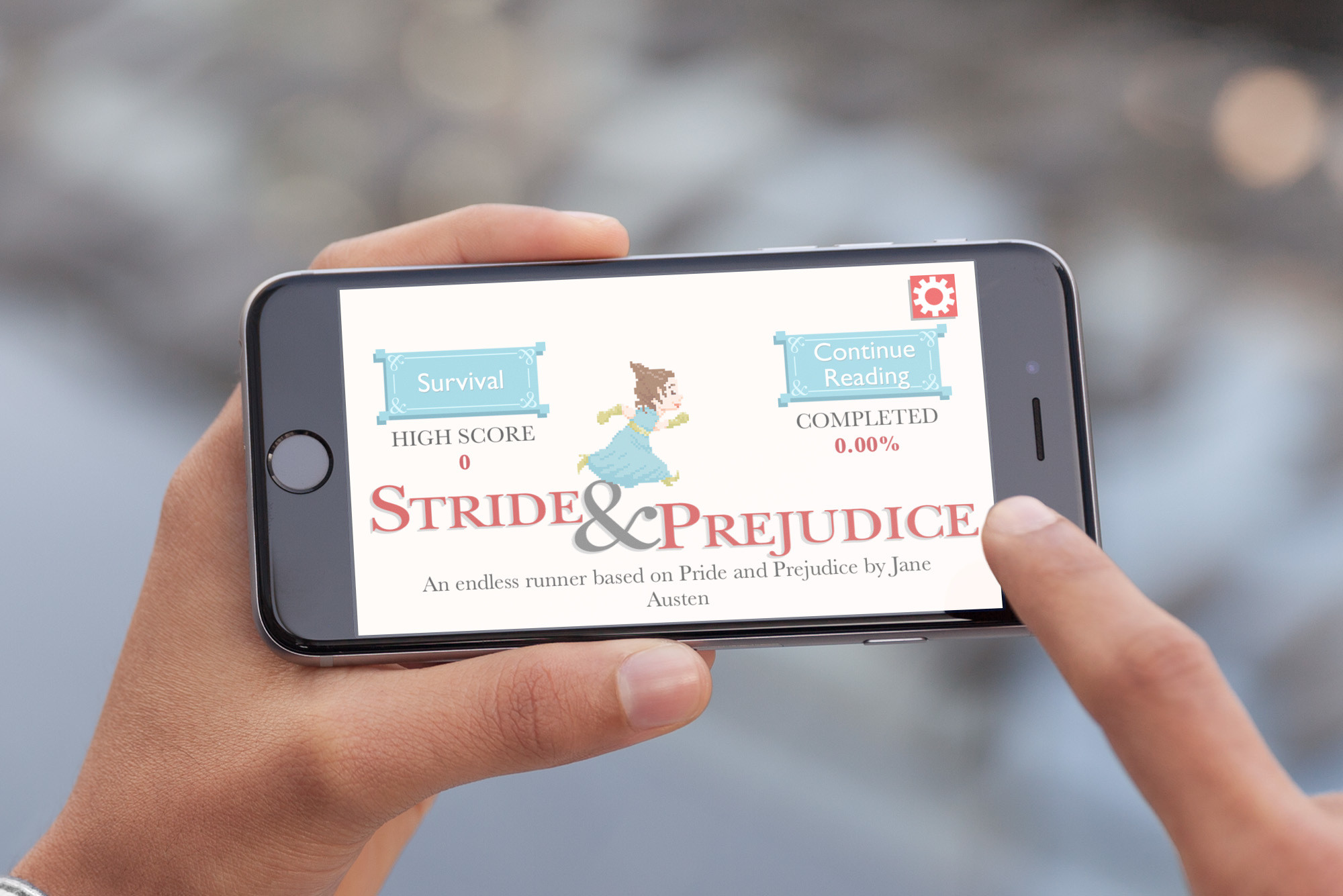 Stride & Prejudice is an endless runner with a literary twist
