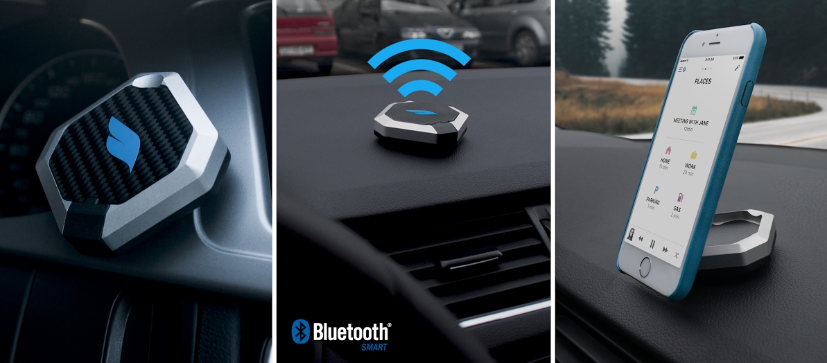Bluejay is a smart car mounting system for your iPhone