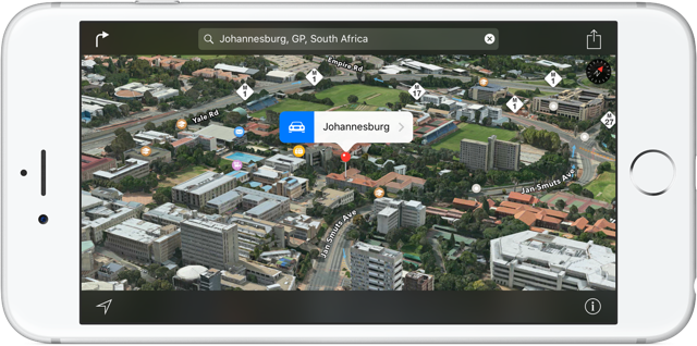 Apple Maps Flyover Johannesburg