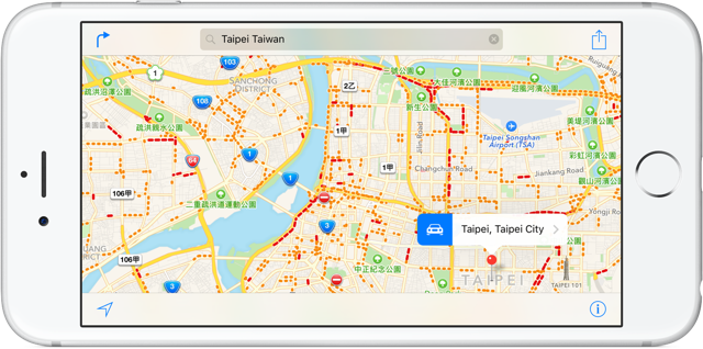 Apple Maps Traffic Taiwan
