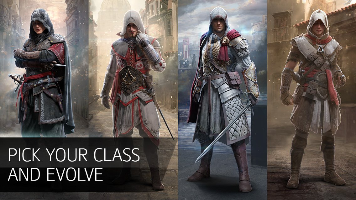 Assassin's Creed Identity classes