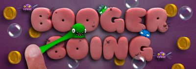 Get in the nose and fling to win in Booger Boing
