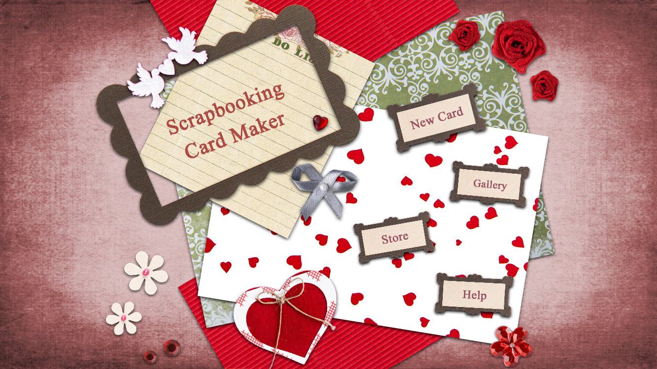 Make unique cards in Digital Scrapbooking with Handmade Scraps