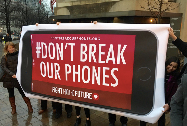 Don't Break Our Phones rally