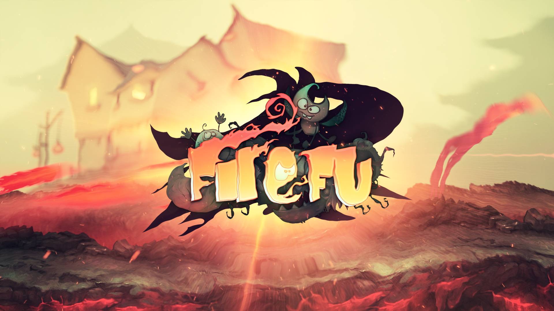 Blaze through waves of evil creatures in Fire Fu