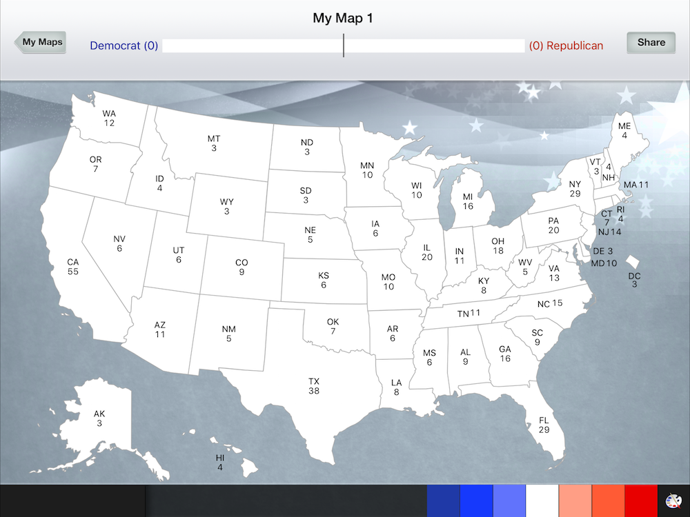 6 Great Apps For The 2016 US Presidential Election - Create Your Own Us Map