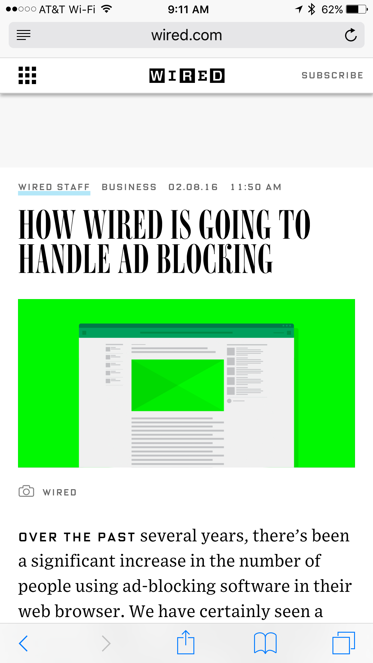 Ads being blocked - for now