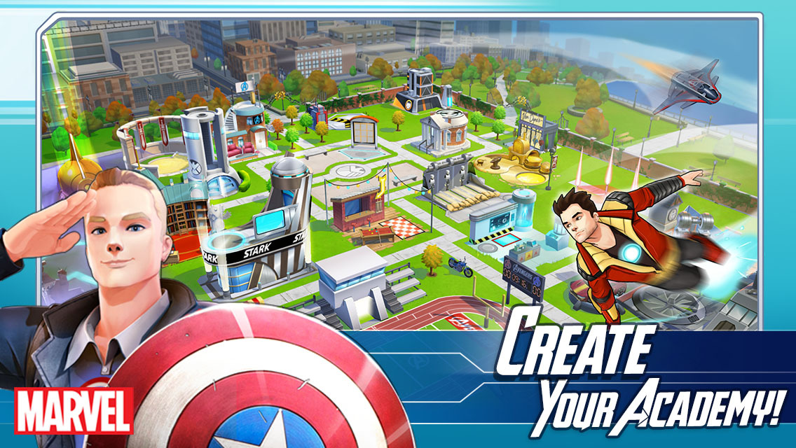 Marvel Avengers Academy create your academy