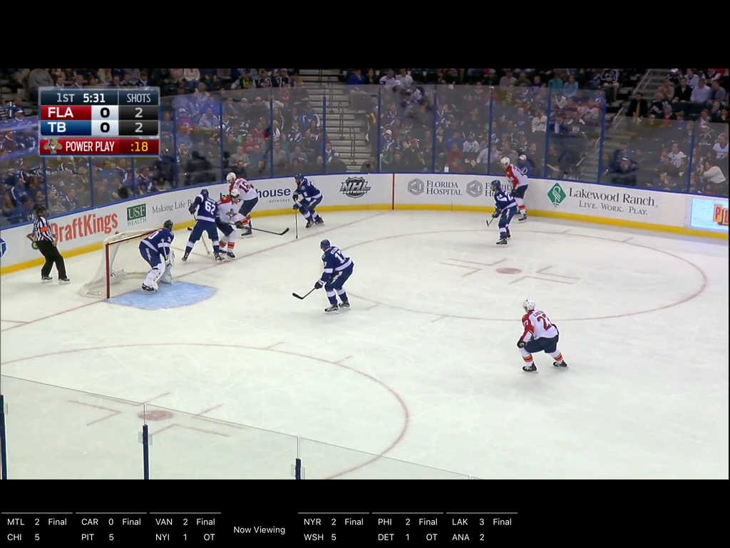 NHL iPad video