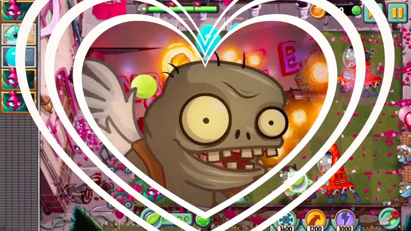 Find zombody to love in Plants vs. Zombies 2's Valenbrainz event