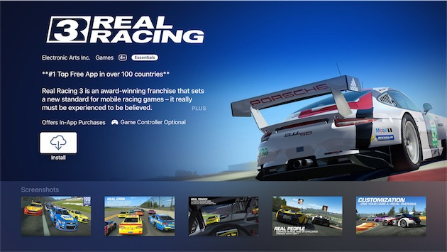 Real Racing 3 Apple TV
