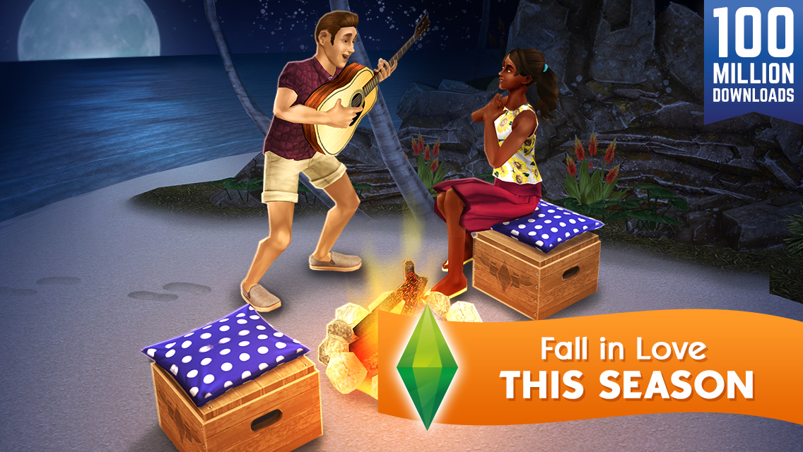 The Sims FreePlay fall in love