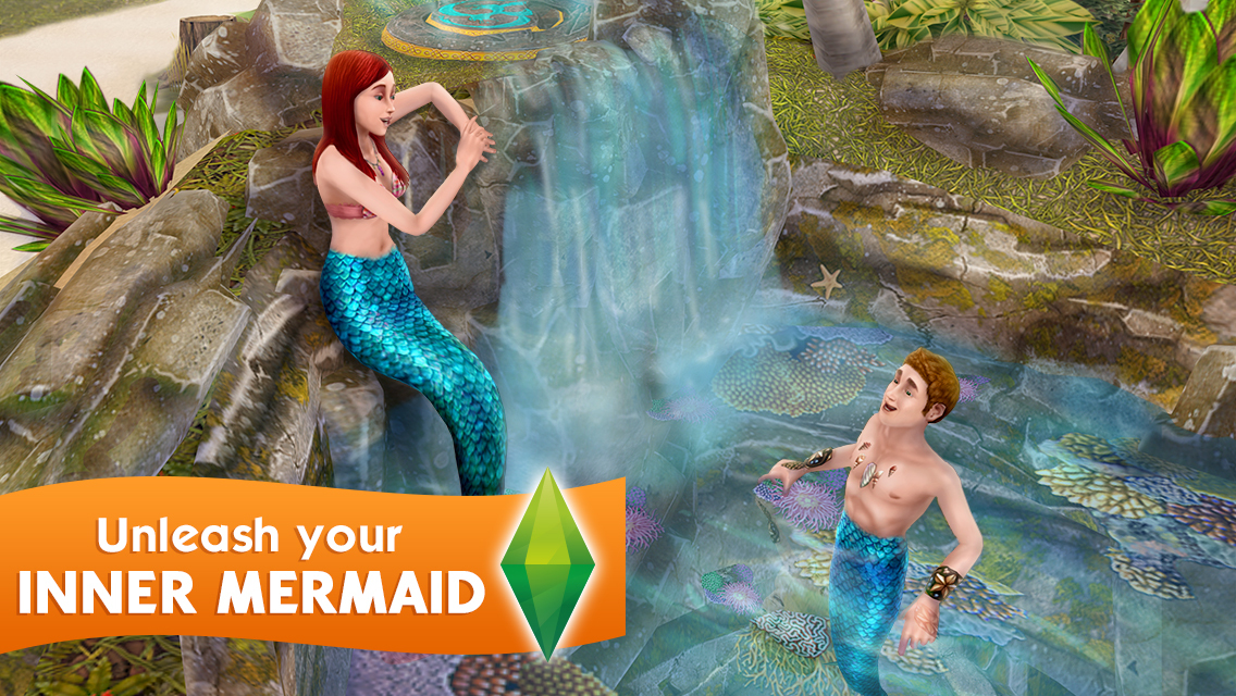 The Sims FreePlay mermaid