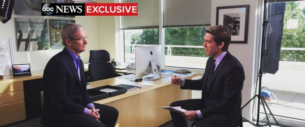 Apple CEO Tim Cook grants TV interview in fight against FBI over iPhone hacking