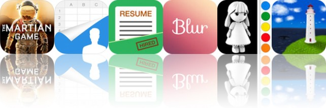Today's apps gone free: The Martian, SA Contacts, Smart Resume and more