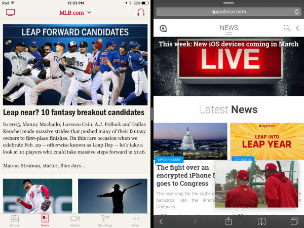 MLB.com at Bat update brings a number of new features for iPad users