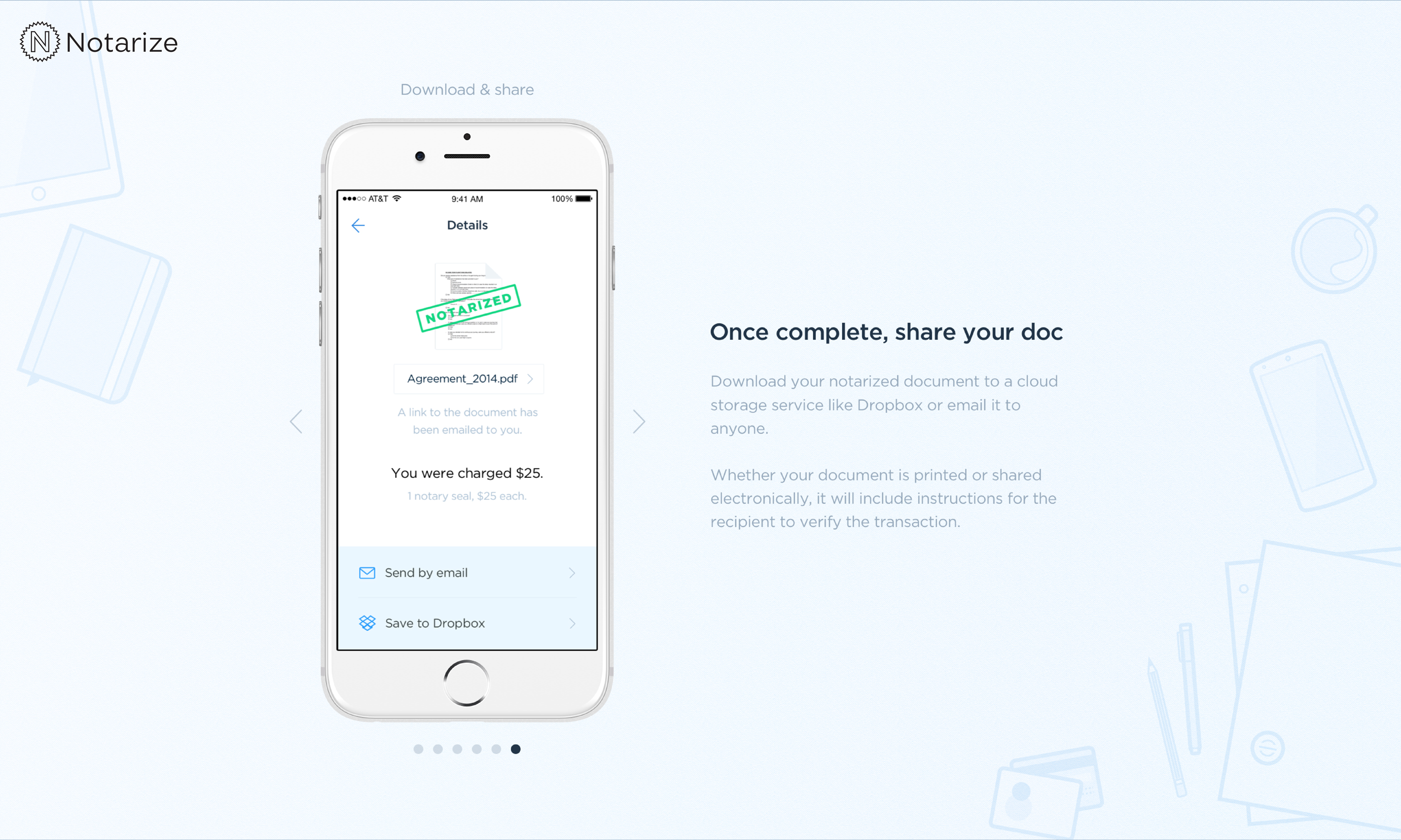 Have documents notarized from your iPhone with the new Notarize app