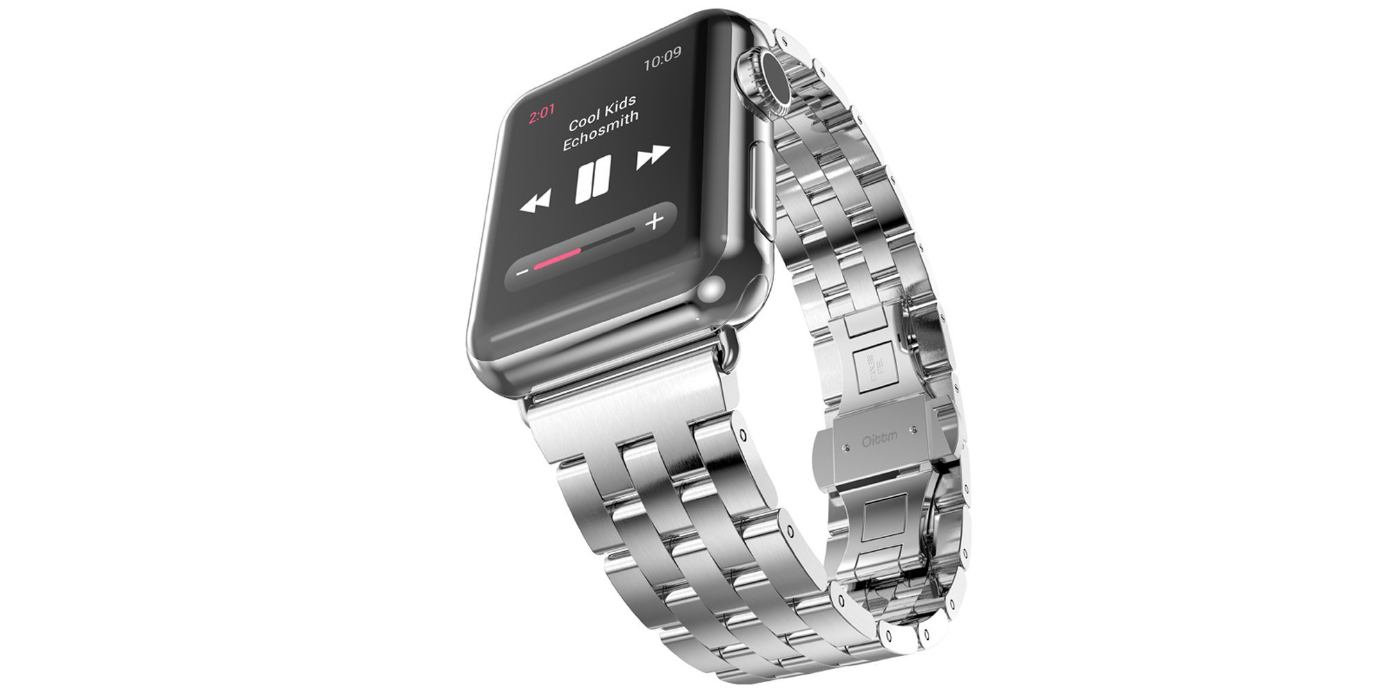 Oittm's Stainless Steel Link Bracelet adds a touch of class to the Apple Watch