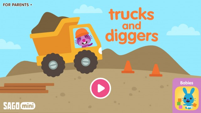 Kids can head to the construction site with the new Sago Mini Trucks and Diggers