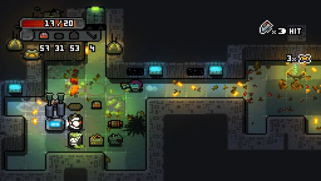 Explore, uncover secrets and blow up foes in Space Grunts