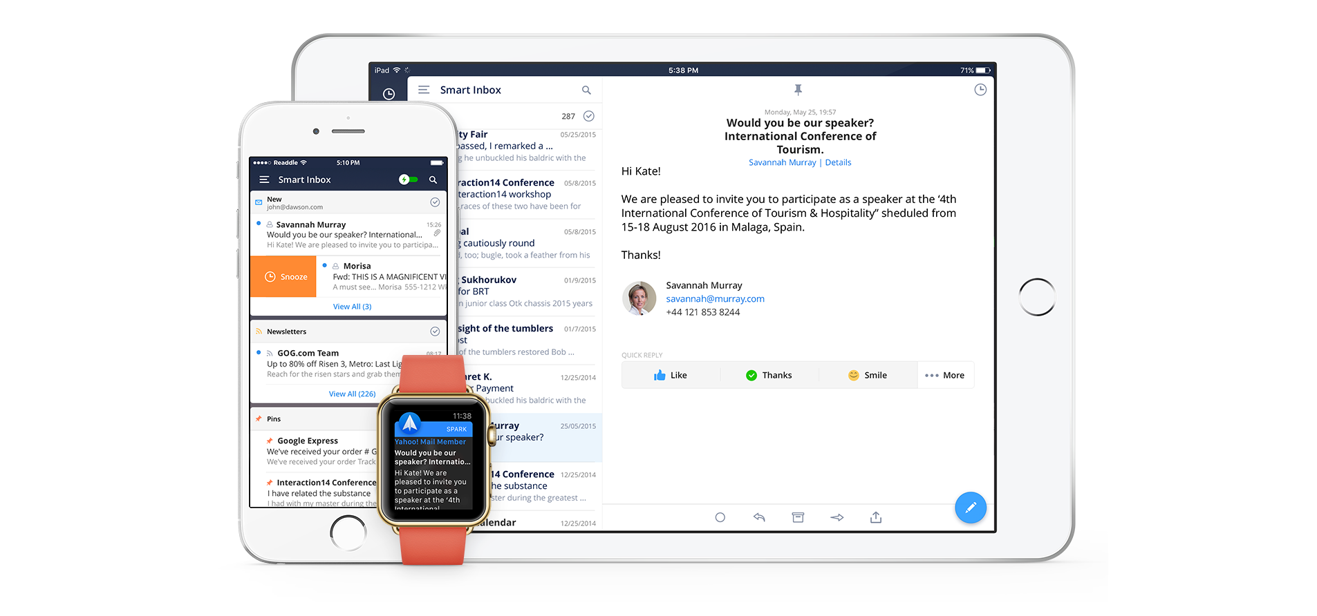 Powerful email app Spark lands on the iPad with a new update