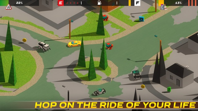Paint the town while outrunning the cops in Splash Cars