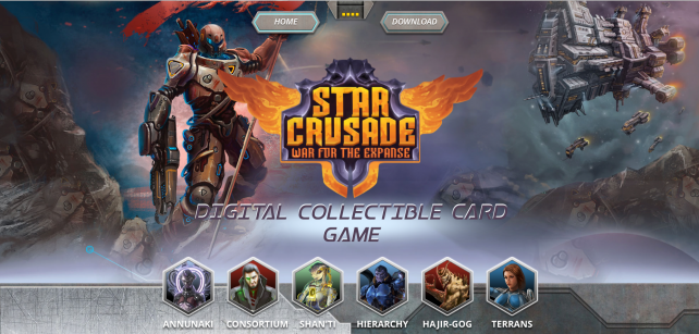 Star Crusade: War for the Expanse looks to be another great collectible card game
