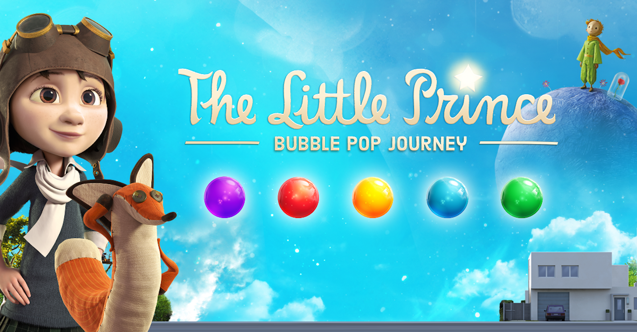Pop bubbles and enjoy adventures with The Little Prince