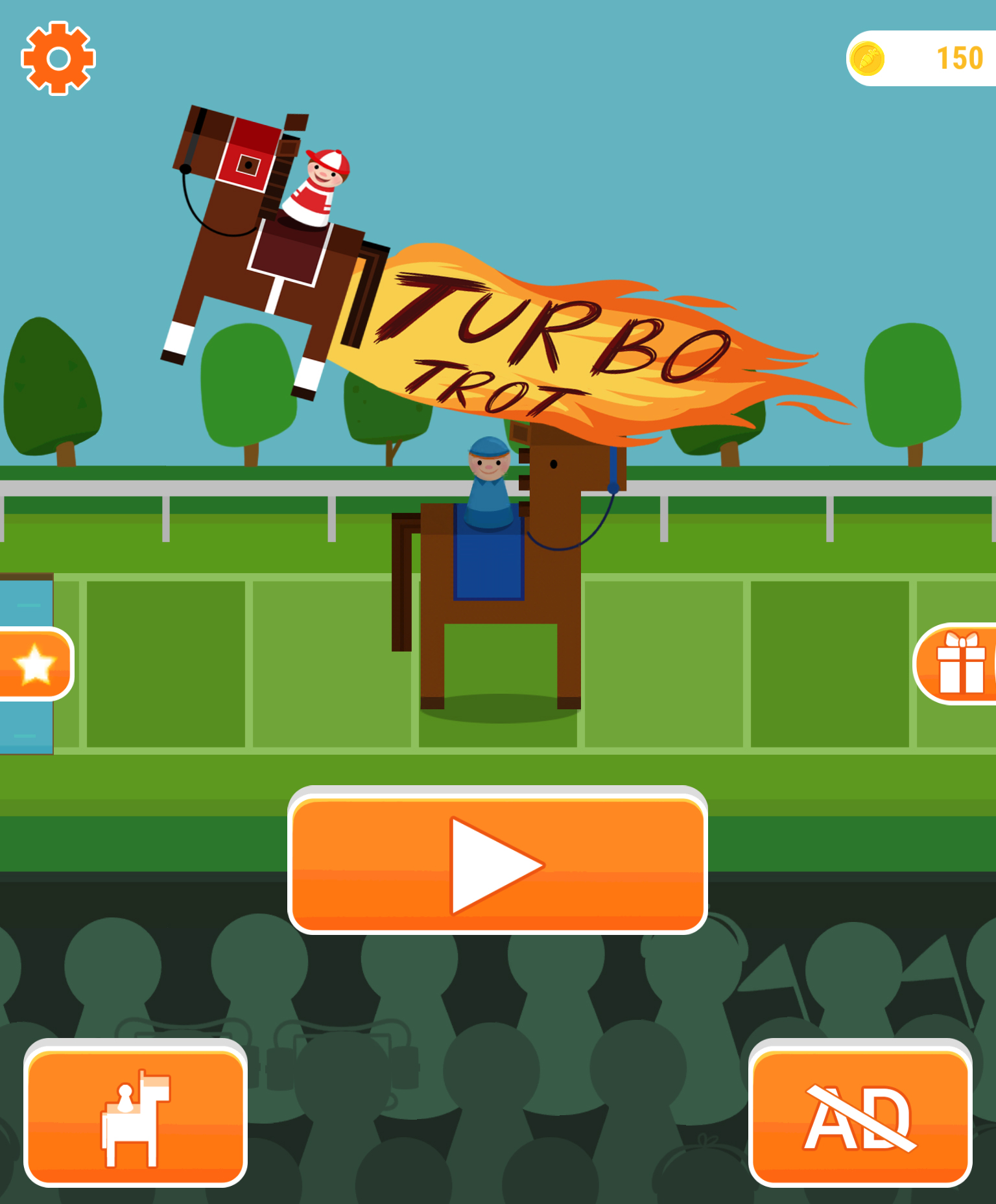 Get ready for some fun horse racing action in Turbo Trot