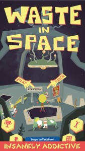 Waste In Space is a meaningful endless arcade shooter