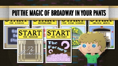 Live the Broadway dream with Peter Panic and mini-games