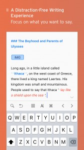 Ulysses, a must-have tool for writers, is now on iPhone