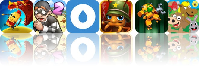 Today's Apps Gone Free: Dragon Hills, Robbery Bob 2, My Water Balance and More