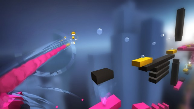 Enjoy colorful and intense auto-runner action in Chameleon Run