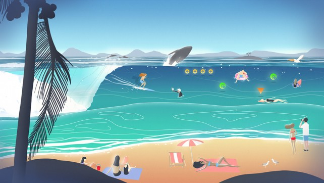 It's time to hit the beach in Go Surf - The Endless Wave