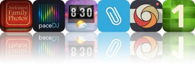 Today's Apps Gone Free: Awkward Family Photos, PaceDJ, Flip Clock and More