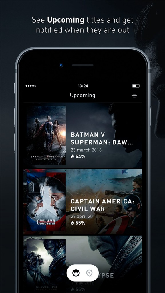 Snapseat Makes Browsing Movie Showtimes Beautiful and Fun