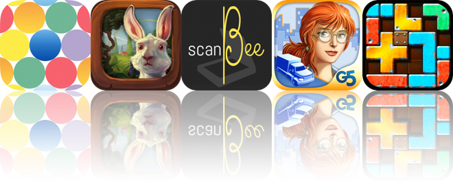 Today's Apps Gone Free: Pointillisted, Alice in Wonderland, ScanBee and More