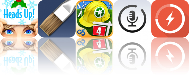 Today's Apps Gone Free: Heads Up!, ArtRage, Build-a-lot 4 and More