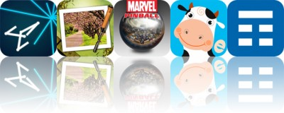 Today's Apps Gone Free: Vectrex, Moku Hanga, Marvel Pinball and More