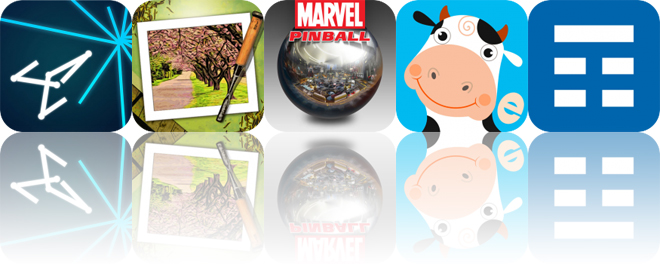 Today's Apps Gone Free: Vectrex, Moku Hanga, Marvel Pinball and More