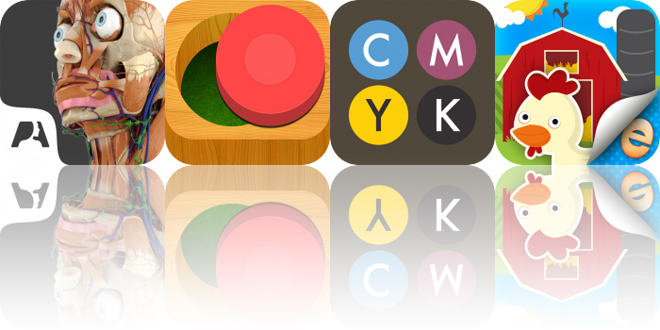 Today's Apps Gone Free: Pocket Anatomy, Busy Shapes, CMYK and More