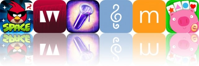 Today's Apps Gone Free: Angry Birds Space, LightWeaver, The Secret of Chimera Labs and More
