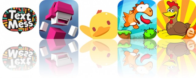 Today's Apps Gone Free: Text Mess, Chameleon Run, Duncan and More