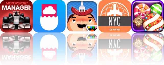 Today's Apps Gone Free: Motorsport Manager, Tweetroot, Toca Kitchen and More